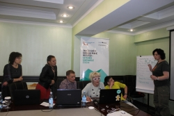 Training on video advocacy in Almaty
